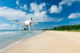 drone flying over sea. - 167001690