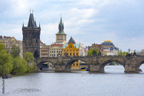 Tuinposter Praag Most popular view of the main sightseeings in Prague