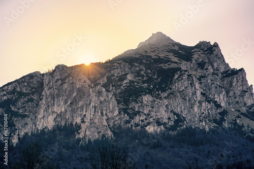 Sunrise over hill Rozsutec, Slovakia