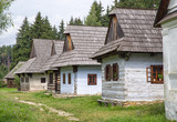 Wooden cottages in village, Slovakia