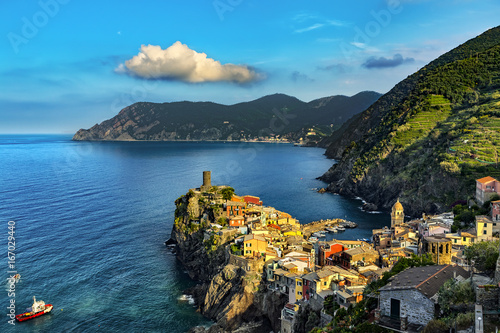 Italy. Cinque Terre (UNESCO World Heritage Site since 1997). Vernazza town (Liguria region)