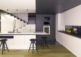 modern kitchen interior - 167033492