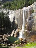 Waterfall , Half dome trail , Yosemite national park
