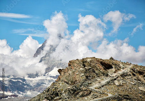 Foto op Canvas Blauw Gornergrat Zermatt, Switzerland, Swiss Alps