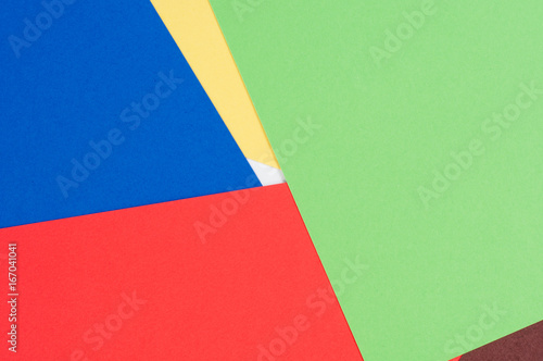 Abstraction from colored cardboard. Composed paper like a material design