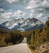 Scenic Icefields Pkwy traveling through Banff and Jasper National Parks