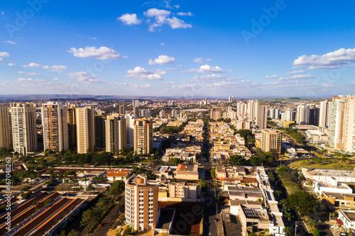 In de dag Milan Aerial View of Ribeirao Preto city in Sao Paulo, Brazil