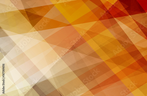 Sticker abstract background.in orange and white stripes, lines, triangles and polygon shapes with transparent layers in modern business design, faint texture, and warm autumn color tones