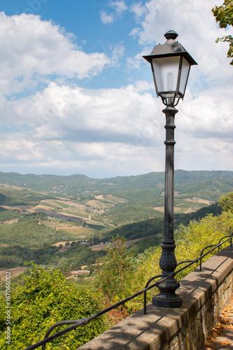 Tuinposter Toscane Toskanische Landschaft, Ausblick von Radda