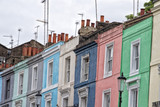 portobello road london street colorful buildings