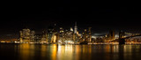 New York Skyline at night - 167075429