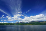 View of the Isle of Arran in Scotland from the water
