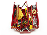 Toolbox full with tools