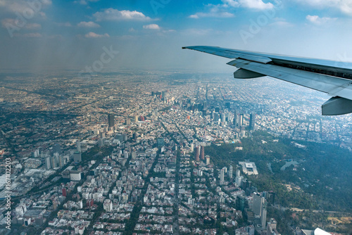 Poster mexico city aerial view cityscape panorama