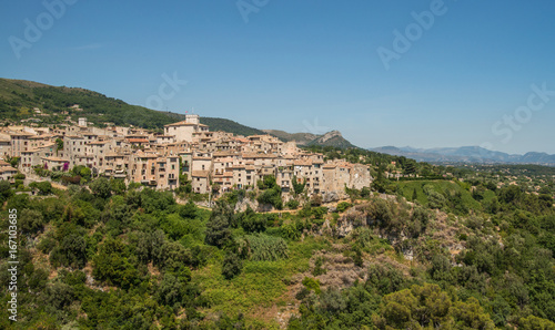 Sticker Scenic old hilltop village in Provence region of France