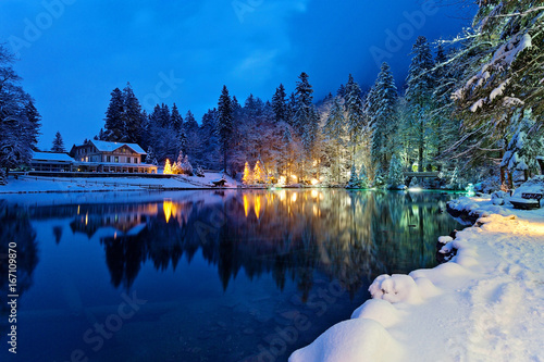 Poster Winterlandschaft in den Schweizer Alpen