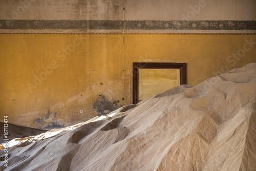 Abandoned ghost town of Kolmanskop in Namibia Poster