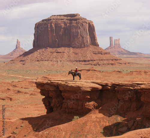 Cow boy monument valley