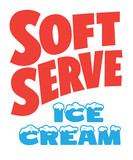 Soft Serve Ice Cream sign painter poster - 167142808