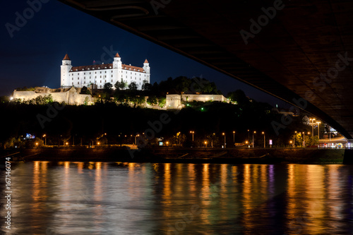 Night photo of Bratislava Castle Poster