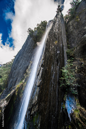 New Zealand Sharp Waterfall Cliff - 167164693