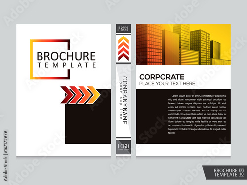 Elegant city brochure template . Portfolio layout background.Cover book . Poster design.Flyers report business magazine poster and portfolio layout - 167172676