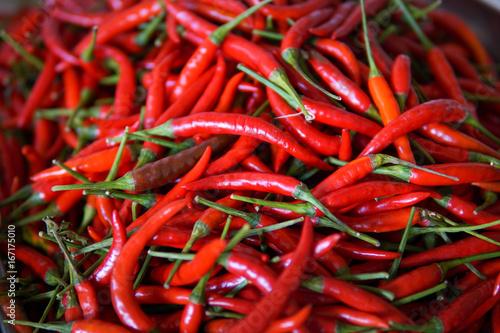 Deurstickers Hot chili peppers Fresh chilli