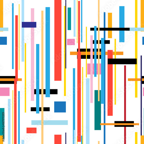Seamless beautiful color geometric pattern