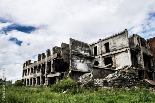 Foto op Plexiglas Oude verlaten gebouwen abandoned factory