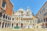 VENICE, ITALY - MAY 12, 2017 :Patio of St. Mark's Cathedral (Basilica di San Marcos)and the Doge's Palace (Palazzo Ducale) , Italy. - 167183844