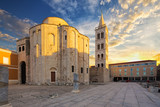 St.Donatus church on the Roma Forum in Zadar. Croatia. - 167206882