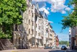 Ulica w Helsinkach. Finlandia, UE