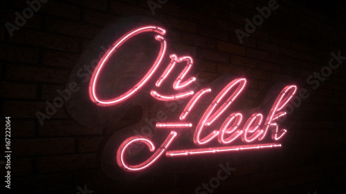 On Fleek 3D Neon Sign