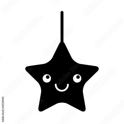 cute star kawaii character vector illustration design