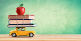 Back To School Concept - Shopping Books And Apple - 167246617