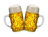 Zwei Bierkrüge auf dem Oktoberfest in München - 167254806