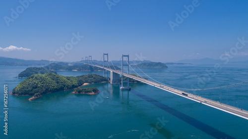 来島海峡大橋(しまなみ海道) 空撮