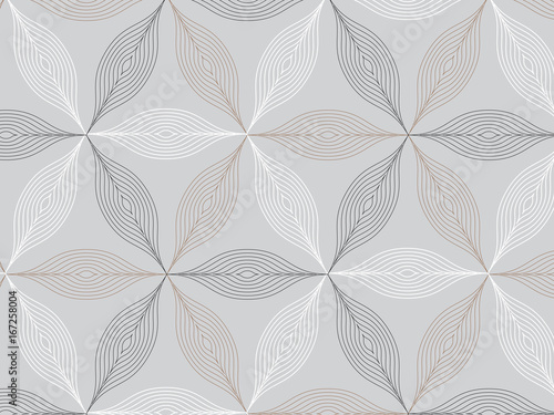 flower pattern vector, repeating linear petal of flower, Geometric vector pattern repeat  - 167258004