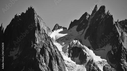 Poster Grijze traf. Alps peak