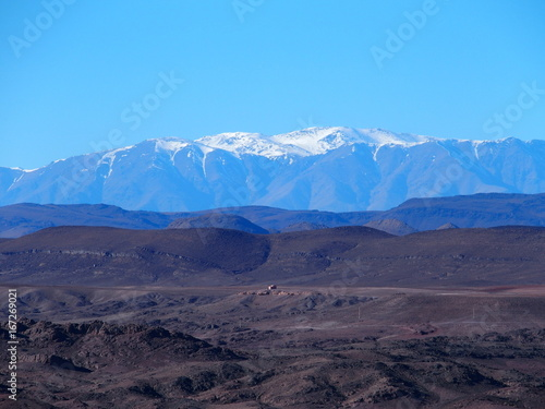 Tuinposter Aubergine High ATLAS MOUNTAINS range landscape in central MOROCCO in Africa