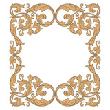 Vintage baroque ornament vector - 167273828