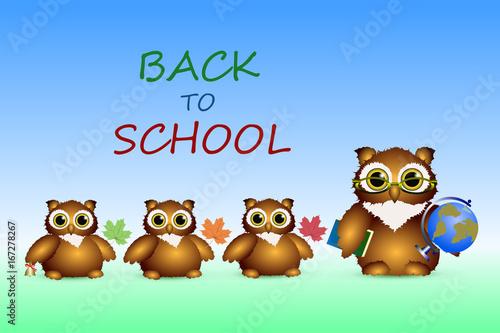 Owl - a teacher and owls - a pupils
