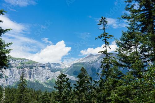 beautiful mountain view in flims switzerland