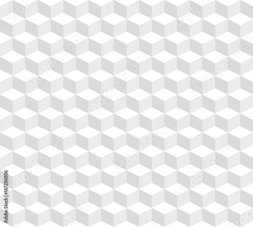Abstract seamless pattern from the isometric cubes. - 167286806