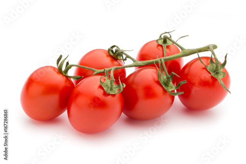 Tuinposter Rome Small plum tomatoes on a white background.