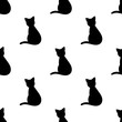 Cat shape seamless pattern
