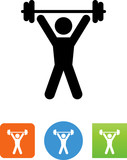 Person Lifting Weights Icon - Illustration - 167296005