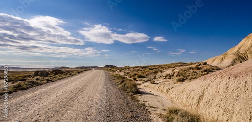 Staande foto Nachtblauw Landscape of desert