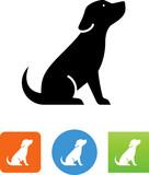 Puppy Sitting Icon  Illustration Wall Sticker