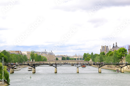 View of Paris along the seine river.